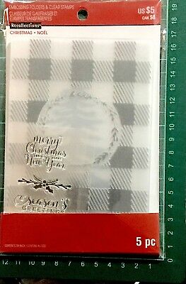 Recollections Stamp & Emboss Set ~Christmas Noel New Year Code 565263