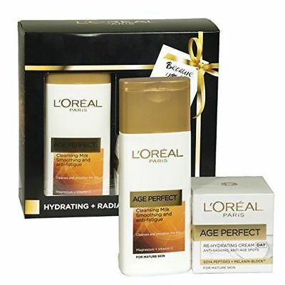 L'Oreal Age Perfect Hydrating and Radiance Ritual Set cleansing milk cream NEW
