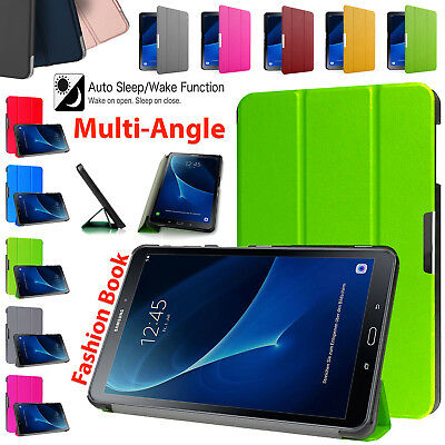 """Magnetic Stand For Samsung Galaxy Tab A T580 10.1"""" Smart Leather Case Cover 2016"""