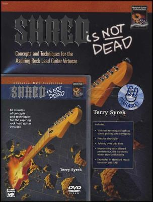Shred Is Not Dead Guitar TAB Music Book & DVD Tuition Learn How To Play Method
