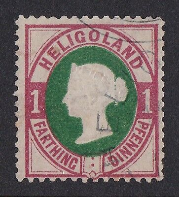 HELIGOLAND 1875-90 QV Embossed 1pf (¼d) EXPERTISED GENUINE