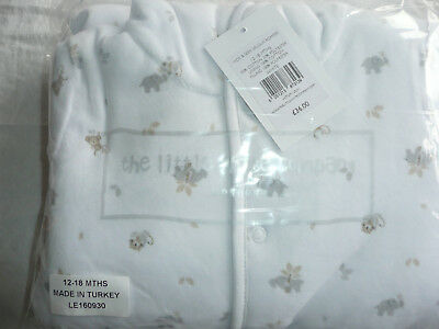 BNWT The Little White Company Toddler White Velour Romper/ All in One/ 12-18