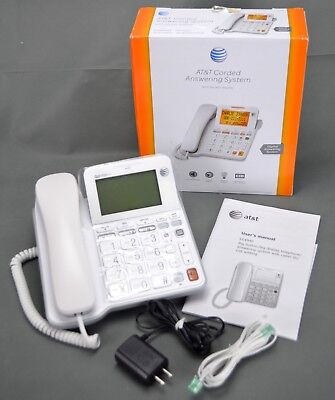AT&T CL4940 Corded Digital Answering System Backlit Display Hearing Aid Compat