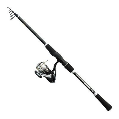 NEW Daiwa All In One Free Style Fishing DV1 Telescopic Rod Back Reel Set