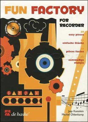 Fun Factory Recorder Sheet Music Book with CD Learn How To Play Method