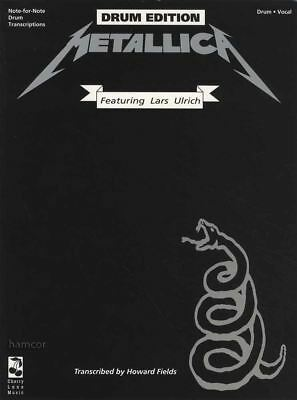 Metallica The Black Album Drum Edition Music Book Transcriptions