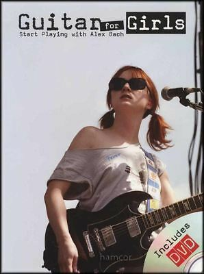 Guitar for Girls Alex Bach Guitar TAB Music Book/DVD Learn How to Play Method