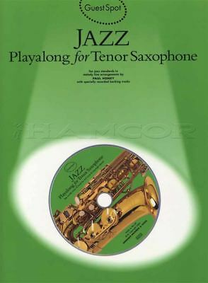 Jazz Playalong for Tenor Saxophone Sax Sheet Music Book with CD