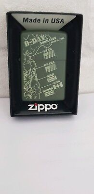 "Zippo Lighter ""D -Day Normandy"" brand New & Boxed 100% Authentic"