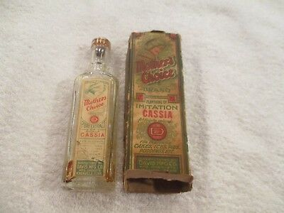 Vintage Mother's Choice Brand Imitation CASSIA  bottle &  BOX