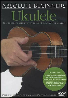 Absolute Beginners Ukulele Learn to Play Tuition Step-By-Step Guide DVD