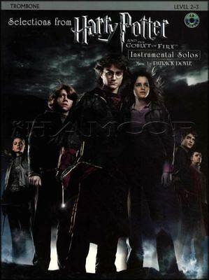 Harry Potter Goblet of Fire Trombone Sheet Music Book/CD Instrumental Solos