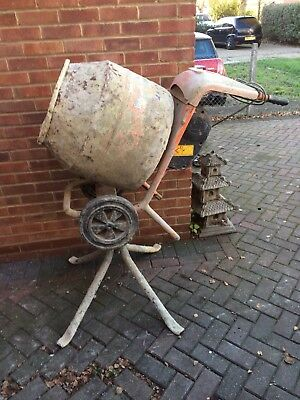 Belle Minimix 150 Electric 240v Cement Mixer With Stand Good Working Order