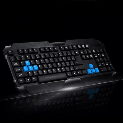 Black USB Wired Keyboard Gamer Gaming for Laptop PC Computer Universal# PD