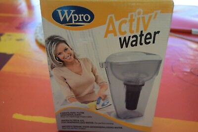 WPRO Carafe avec filtre demineralisant PWT100 Activ Steam Water *NEUF*