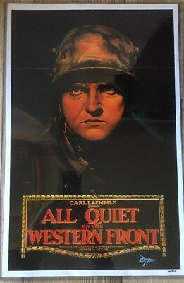 All Quiet On Tje Western Front Poster Reprint Lewis Milestone War Film Classic