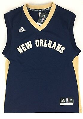 cd92c395c8a New 🏀 Blank Adidas Mens Small Swingman New Orleans Pelicans Blue NBA Jersey  NWT