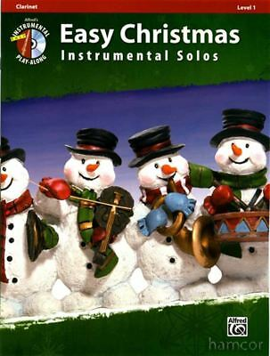Easy Christmas Instrumental Solos Clarinet Sheet Music Book and Play-Along CD