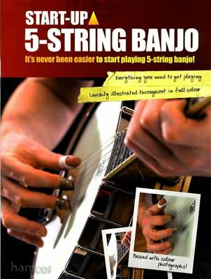 Start Up 5-String Banjo Learn How to Play Tutor Method Teach Yourself TAB Book