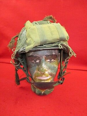 Original WWII US Army Firestone M1 Combat Helmet +Liner Complete with Chin Strap