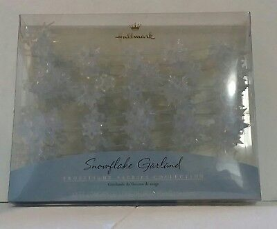 "2001 Hallmark ""Frostlight Fairies Collection"" Snowflake Garland Lot Of 2"