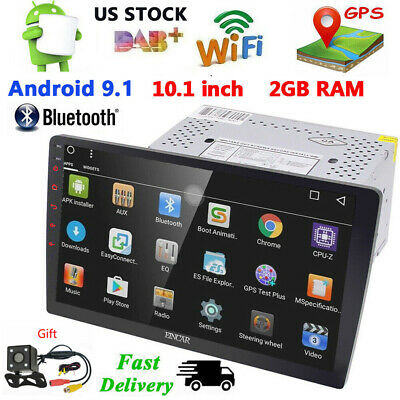 2 DIN Android 8.1 10.1'' HD Screen Car Stereo GPS WIFI AM 4G FM Radio+Cam NO DVD