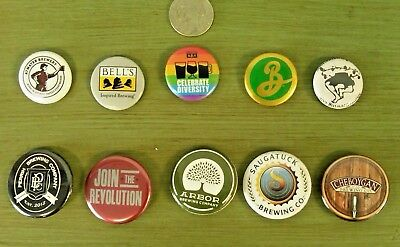 Lot Of 10 Craft Beer Micro Brewery Pin Backs/Buttons