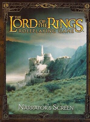 Lord of the Rings Roleplaying - Narrator's Screen + Beiheft *unbenutzt* Decipher