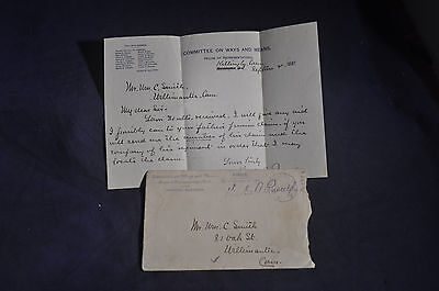 1897 *SIGNED* House Ways & Means Committee, Conn Rep Charles A Russell ENVELOPE