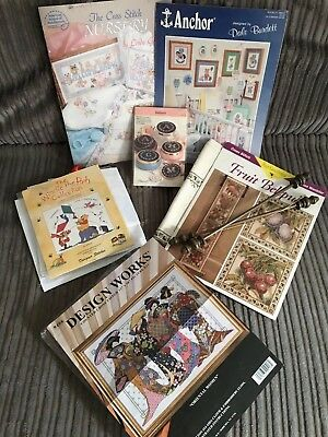 Lovely bundle of counted cross stitch items - Worth A LOOK