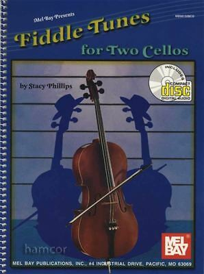 Fiddle Tunes for Two Cellos Cello Duet Sheet Music Book & CD
