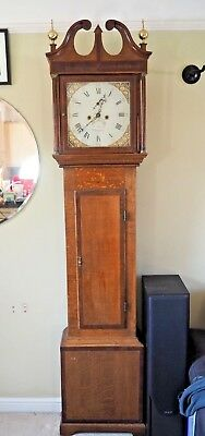 James Powell Grandfather Longcase 8 day clock