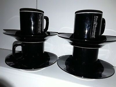 Espresso cups and saucers set. Black. Price and Kensington. New