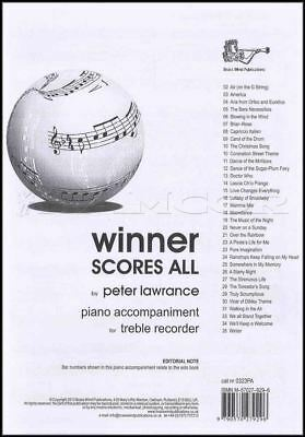 Wind & Woodwinds United Winner Scores All Lawrance Descant Piano Accomps