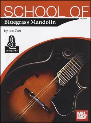 School of Bluegrass Mandolin TAB Music Book with Audio by Joe Carr Country