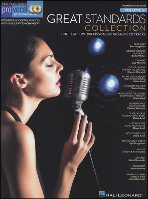 Great Standards Collection Pro Vocal Sheet Music Book with CDs Women's Edition