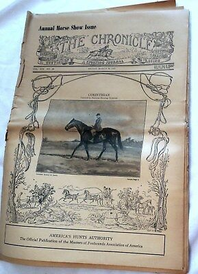 The Chronicle Sporting Journal March 24 1950 Newspaper Horse Racing Show Hunting