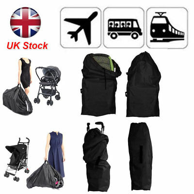 Waterproof Cover Gate Check Pram Travel Bag Umbrella Stroller Pushchair Buggy UK