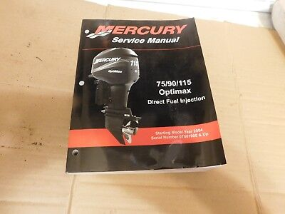 Mercury Outboard Factory Service Manual 75 90 115 Optimax 2004 Book