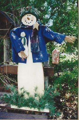 Pattern-Primitive Snowman-Non Melting! - Wood & Toll Painting-Country Whims