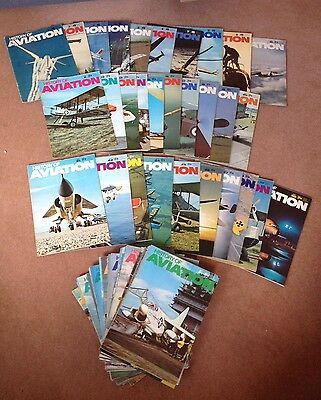 Full set of 72 History of Aviation magazines from 1970-72