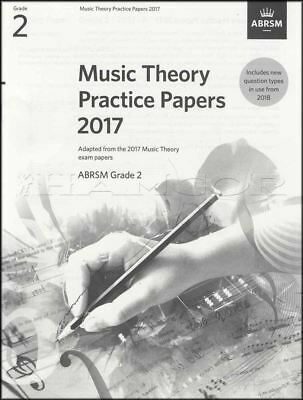 ABRSM Music Theory Practice Papers 2017 Grade 2 Past Exam Questions Music Book