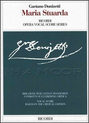 Donizetti Maria Stuarda Opera Vocal Score Voice & Piano Sheet Music Book