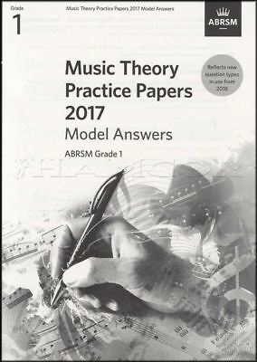 ABRSM Music Theory Practice Papers Model Answers 2017 Grade 1 to Past Music Exam