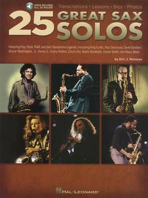 25 Great Sax Solos Saxophone Sheet Music Book/Audio Kenny G Steely Dan Foreigner