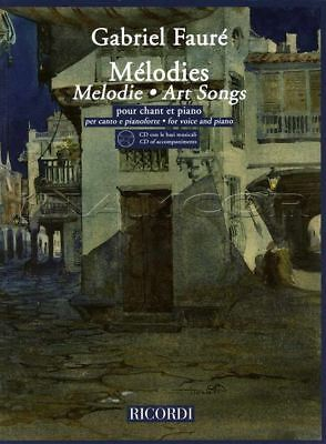 Gabriel Faure Melodies Art Songs Vocal Sheet Music Book/CDs Voice & Piano