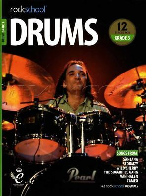 Rockschool Drums Grade 3 2018-2024 Sheet Music Book/Audio Exercises Tests Songs