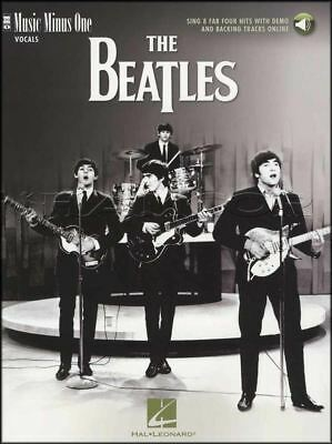 The Beatles Music Minus One Vocals Vocal Music Book with Audio Sing 8 Hits