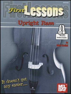 First Lessons Upright Bass Sheet Music Book with Audio Learn How To Play Method