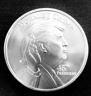 President Donald Trump Inaugral One Ounce .999 Fine Silver Round